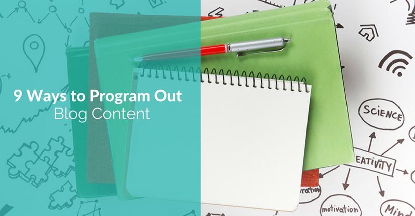 program blog content