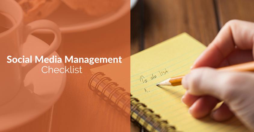 Social Media Management Checklist