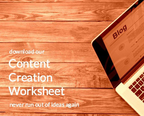 Content Creation Worksheet Free Download