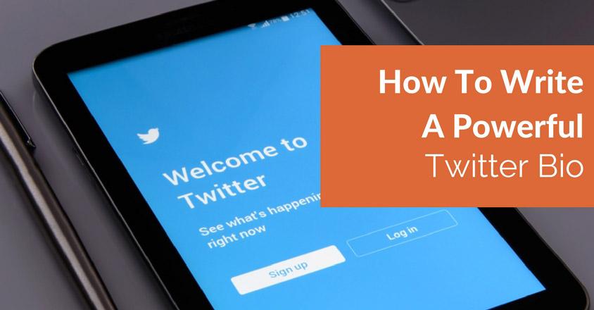 how to write a twitter bio