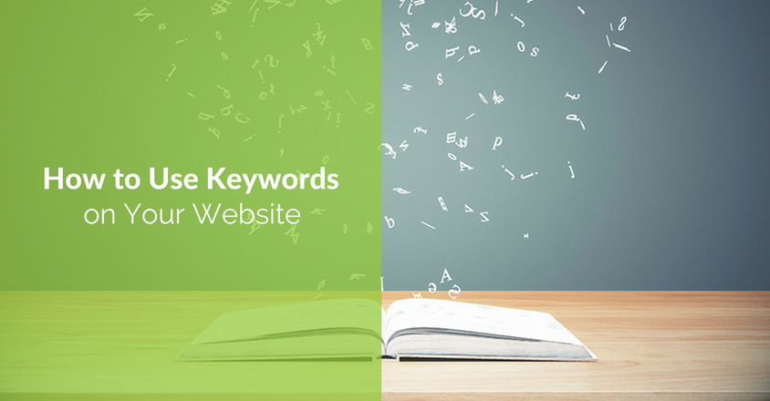 keywords on your website