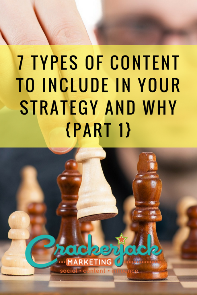 7 Types of Content to Include in Your Strategy and Why {Part 1}