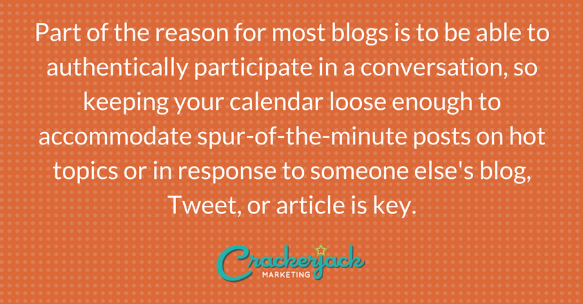 How To Use A Blog Editorial Calendar Template Crackerjack Marketing