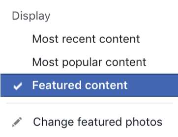 Facebook featured photos for brands