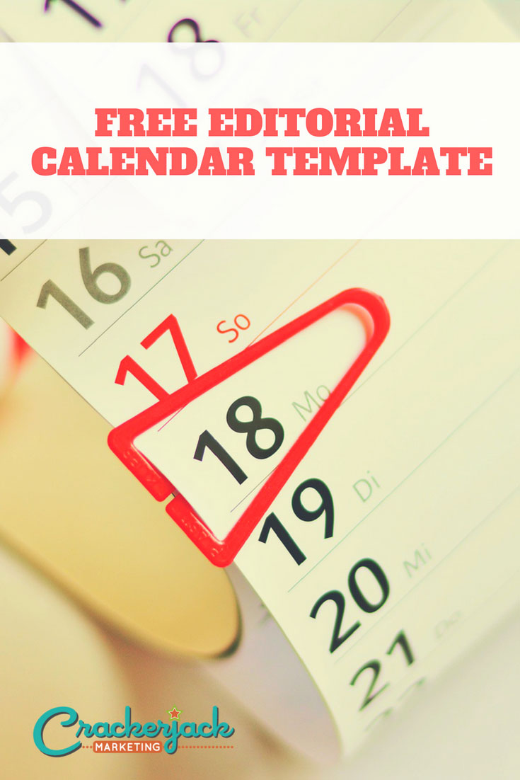 Editorial Calendar Template Crackerjack Marketing
